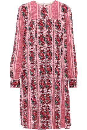 EMILIA WICKSTEAD Emilo pleated floral-print crepe de chine dress