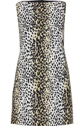 MAX MARA Nino cutout leopard-print cotton top