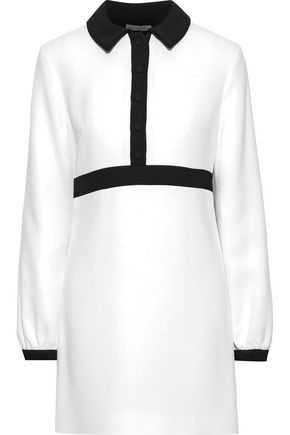 EMILIA WICKSTEAD Two-tone crepe mini dress