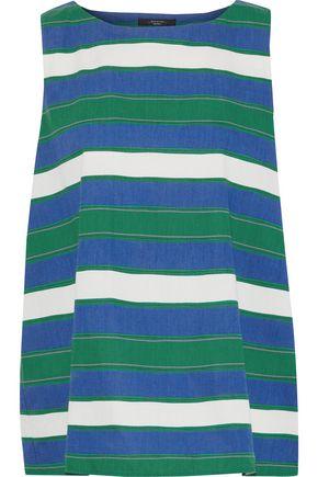 MAX MARA Ubi striped cotton-poplin tank