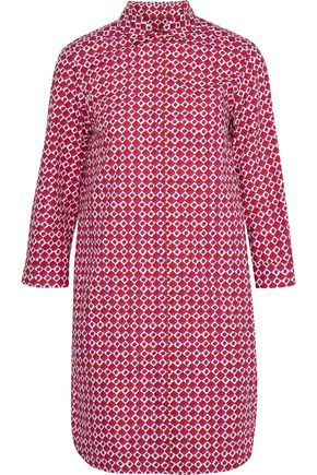 MAX MARA Karim printed cotton-poplin mini shirt dress