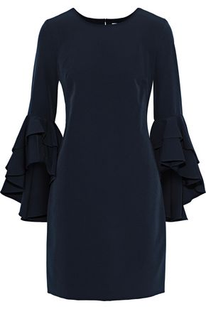 MILLY June fluted cady mini dress