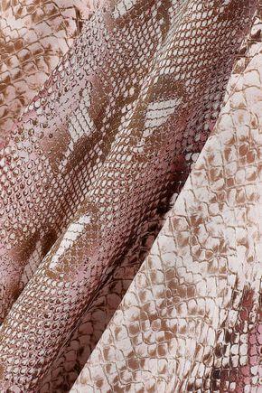 EMILIA WICKSTEAD Lucinda snake-print silk crepe de chine midi shirt dress