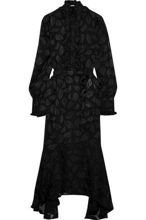 EQUIPMENT Palo belted fil coupé silk-blend chiffon midi dress