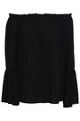 MICHAEL KORS COLLECTION Off-the-shoulder silk-crepe top