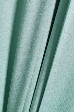 LES HÉROÏNES Pleated crepe-satin culottes