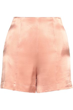 LES HÉROÏNES Satin-crepe shorts