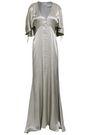 LES HÉROÏNES by VANESSA COCCHIARO The Hedy button-detailed metallic satin gown