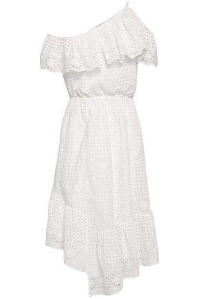 798d92ba7810 JOIE One-shoulder asymmetric broderie anglaise cotton dress