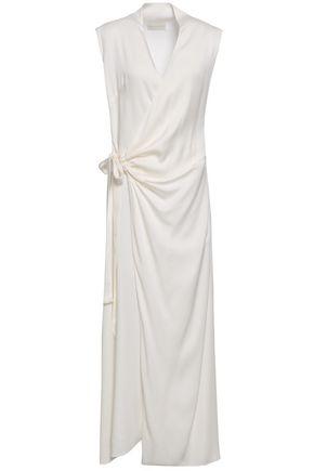 LES HÉROÏNES by VANESSA COCCHIARO Crepe-satin maxi wrap dress