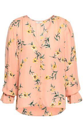 JOIE | Joie Bolona Floral-Print Silk Blouse | Goxip
