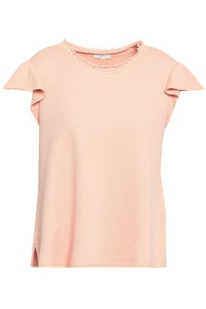 JOIE Ruffled French Pima cotton-terry top