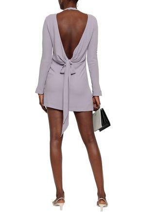LES HÉROÏNES by VANESSA COCCHIARO The Billie open-back bow-detailed washed-crepe mini dress