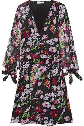 EQUIPMENT Natasha button-detailed floral-print silk-georgette mini dress