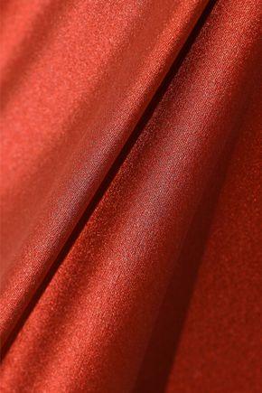 NARCISO RODRIGUEZ One-shoulder asymmetric silk-satin top