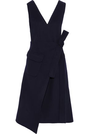 GOEN.J Wrap-effect wool and cashmere-blend felt midi dress