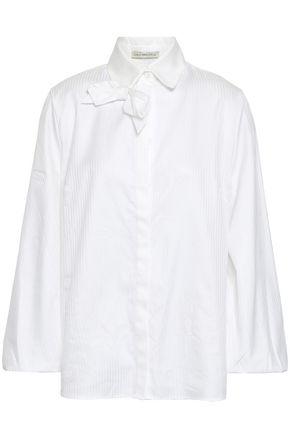 EMILIA WICKSTEAD リボン付き コットンジャカード シャツ