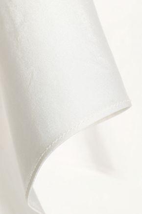 NARCISO RODRIGUEZ One-shoulder layered silk-satin top