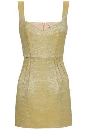 EMILIA WICKSTEAD Judita metallic cloqué mini dress