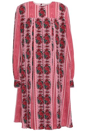 EMILIA WICKSTEAD Pleated printed crepe dress