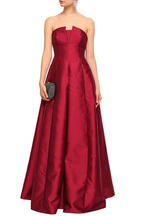 ALBERTA FERRETTI Strapless faille gown