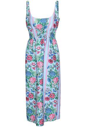 EMILIA WICKSTEAD Gathered floral-print cloqué midi dress
