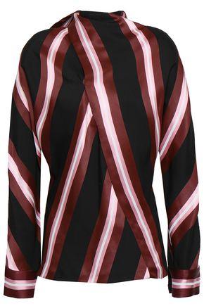 CEDRIC CHARLIER Wrap-effect jacquard blouse
