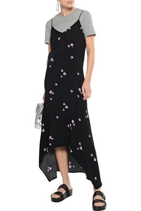 EQUIPMENT Esther floral-print crepe de chine midi slip dress