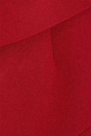 ROLAND MOURET Hepburn one-shoulder stretch-knit dress