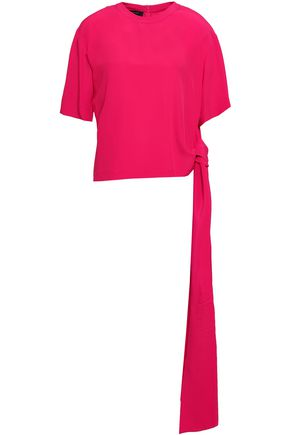 CEDRIC CHARLIER Knotted crepe de chine blouse