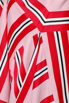CEDRIC CHARLIER Wrap-effect jacquard dress