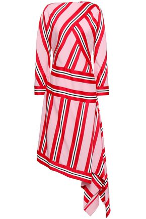 CEDRIC CHARLIER Wrap-effect jacquard dress