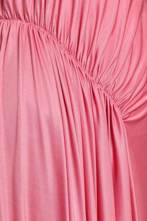 CEDRIC CHARLIER Ruched stretch-jersey midi dress