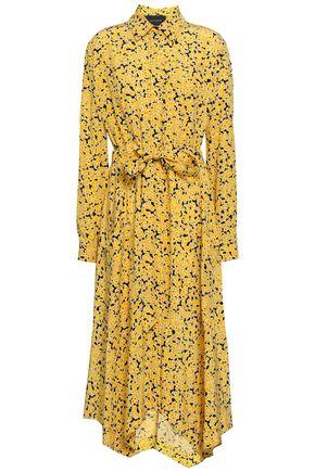 CEDRIC CHARLIER Silk crepe de chine midi shirt dress