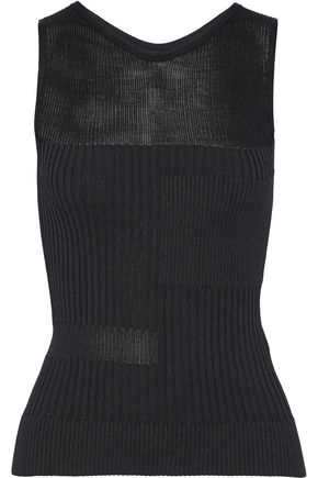 NARCISO RODRIGUEZ Paneled ribbed-knit tank