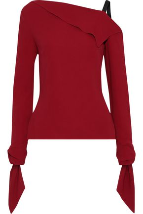 ROLAND MOURET Russell draped crepe top