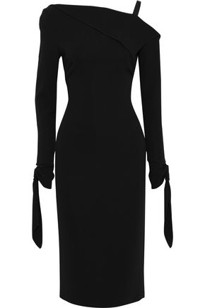 ROLAND MOURET Cadell draped stretch-crepe dress