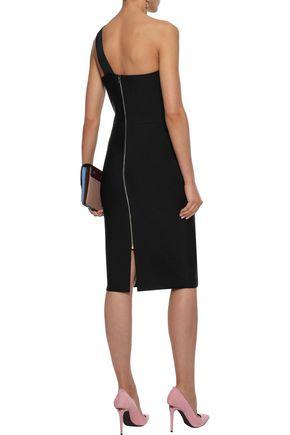 b575c01ea20 ... ROLAND MOURET Hepburn one-shoulder stretch-knit dress