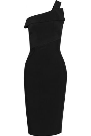 ROLAND MOURET Hepburn one-shoulder stretch-knit dress