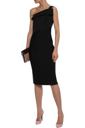 640ae204451 ... ROLAND MOURET Hepburn one-shoulder stretch-knit dress ...