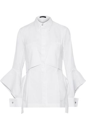 ROLAND MOURET Anderson embroidered cotton shirt