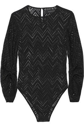 ROLAND MOURET Calvert bead-embellished crochet-knit bodysuit