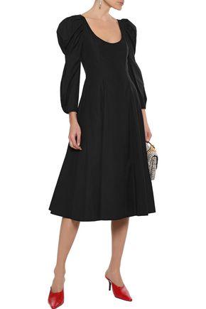 KHAITE Edwina flared cotton-poplin dress