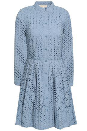 MICHAEL MICHAEL KORS Broderie anglaise cotton mini shirt dress