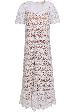 adf36cf5e6cee0 MICHAEL MICHAEL KORS Floral-appliquéd cotton-crochet dress