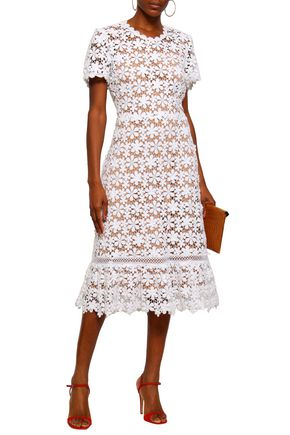 98eef83fa MICHAEL MICHAEL KORS Appliquéd crochet-knit cotton midi dress