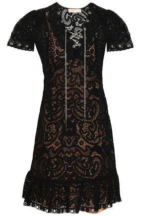 0cf5996fc1 MICHAEL MICHAEL KORS Lace-up crocheted lace mini dress