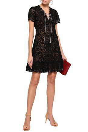 eda1e514b2a MICHAEL MICHAEL KORS Lace-up crocheted lace mini dress
