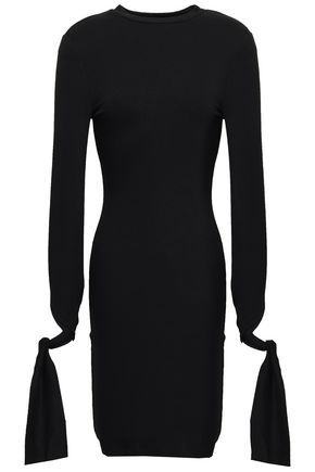 THE RANGE Knotted French terry mini dress