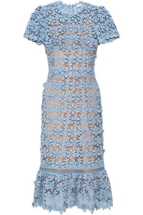MICHAEL MICHAEL KORS Floral-appliquéd cotton-crochet dress